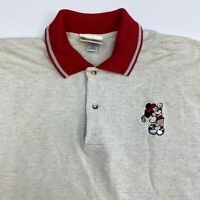 Vintage Walt Disney World Polo Shirt Mens XXL Mickey Embroidered Golf Short Slv