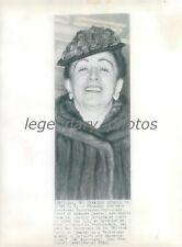 1940 Princess Stefanie Hohenlohe-Waldenburg Original News Service Photo