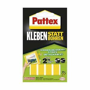 Klebe-Strips Pattex Kleben statt ohne Bohren Klebestreifen 10 Streifen 20x40 mm