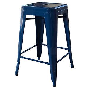 AmeriHome BS24BLUES Loft Blue 24 Inch Metal Bar Stool