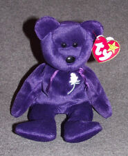RARE 1997 PRINCESS DIANA BEANIE BABY - CHINA - TY - PE PELLETS -MEMORAL FUND-