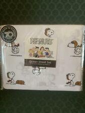 Peanuts QUEEN Sheet Set Snoopy Berkshire Blanket & Home NEW