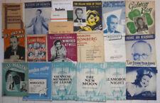 Vintage & Antique Sheet Sheet Musics Books
