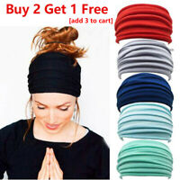 Elastic Stretch Wide Headband Hairband Running Yoga Turban Women Soft Head Wrap