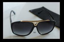 Black Frame Sunglasses Gold Metal ~ Hip Hop Evidence MEN & WOMEN Shade Glasses