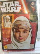 NWT STAR WARS REY HOOD AND MASK CHILD'S 6+  HALLOWEEN 50% off