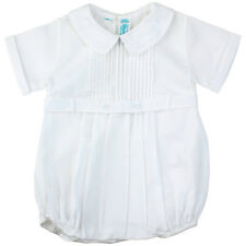 Feltman Brothers Infant Boys White Belted Romper NWT Christening 3m, 9m