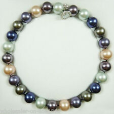 Rare Huge 16mm Genuine South Sea Multicolor Shell Pearl Necklace 18'' AAA+++