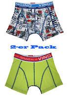 VINGINO Boxershorts Unterhose Gr. XXS ( 98 - 104 ) B142-4 VINCE 2-PACK  Neu