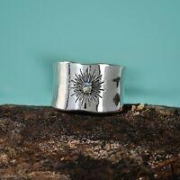 Labradorite Gemstone 925 Sterling Silver Wide Band Spinner Ring Handmade Jewelry