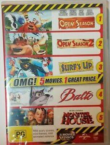 Surf's Up / Balto / Monster House / Open Season / Open Season 2 DVD-, FREE POST