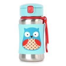 Skip Hop Zoo Stainless Steel Straw Bottle Owl