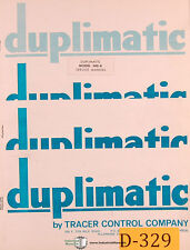Duplimatic 360A, Tracing System Operations and Setup Manual 1976