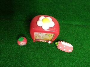 Re-ment Strawberry House #9 Miniature TV Clock Tissue No Box