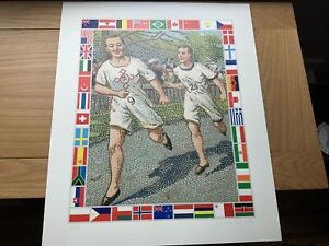 Peter Blake Running Suite giclee print with screenprinted finish, Ltd Ed Of 1/75