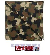 John Deere TRACTORS CAMO Camouflage Bandana Bandanna Head Scarve Scarf*USA MADE