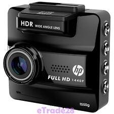 "HP Car Cam F550G Camcorder GPS Full HD 1440P 156° Angel 2.3""LCD Camera WDR Black"