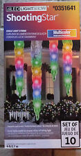 Gemmy Lightshow 10 Shooting Star Multicolor LED Christmas Icicle Lights 351641