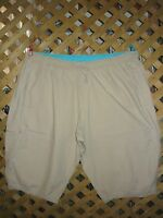 JMS Tan Khaki Cotton Elastic Waist Cargo Capri Pants Plus Size 4X Worn Once