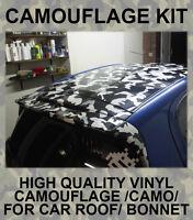 Camouflage Camo Roof Bonnet Stickers JDM Wrap Vinyl for Drift Modified Car VW