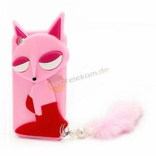 3D Fuchs mit Fellschwanz Silikon Hülle für das iPod Touch 4