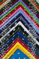 Bandana 100% Cotton Paisley Print Bandanna Scarf Handkerchief