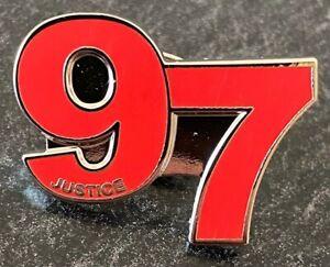 LIVERPOOL 97 JUSTICE MEMORIAL FOOTBALL ENAMEL PIN BADGE  - RED