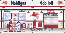 MOBIL GAS STATION SCENE PEGASUS WHOLE WALL MURAL SIGN BANNER GARAGE ART 8' X 16'