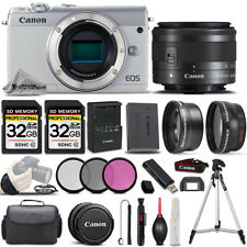 Canon EOS M100 Mirrorless Camera (White) + 15-45mm STM Lens + ULTIMATE Bundle