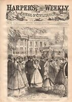 1868 Harpers Weekly July 4 - Cadet Life at West Point; Gladstone and Disraeli