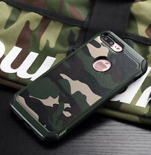 Army Camo Camouflage Soft TPU Skin Case Cover Protective For iPhone X 8 7 6 Plus
