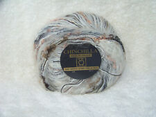 Tahki Imports: Chinchilla Yarn, 50g, approx 102 yds,Color 5110 (Blk, Wht, Peach)