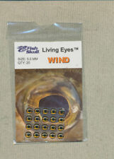 Fish Skull - Living Eyes - 5.0 mm - wind  quantity 20     FS-LE-W5