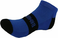 Bamboo Run Cushioned Sports Socks Blue Soft Feel Gym Running Walking