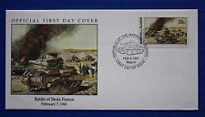 Marshall Islands (275) 1991 WWII: Battle of Beda Fomm Official FDC