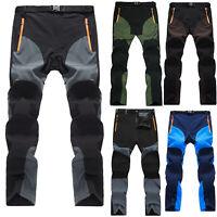 Men's Waterproof Outdoor Climbing Pants Winter Thermal Hiking Windproof Trousers