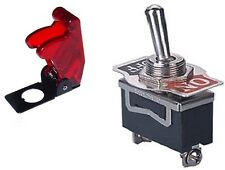 1 PC SPST SAFETY TOGGLE SW 20AMPS @ 125VAC TRANSLUCENT RED COVER  #ST15/66-5018