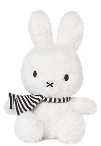 Nijntje-Miffy-Bon Ton Toys-White Sitting Miffy w/Scarf 24cm-Suitable From Birth