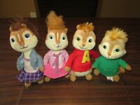 """TY Beanie Babies ALVIN & THE CHIPMUNKS 6"""" Plush Brittany Alvin Jeanette Theodore"""