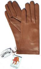 Handschuhe Leder Nappa Damen RSL Leather Finger gefüttert Cognac Braun 6,5 S