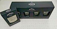 Jack Daniels Ltd Edition On Tour Rock Collectable tumbler Set X4 & Hip Flask 6oz