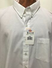 Dickies Shirt Mens 19-19.5 SS36WH Cotton/Poly Button-Down Long-Sleeve White NEW