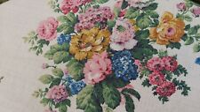 """VINTAGE FLORAL FABRIC 1940 /50 COTTON COTTAGE STYLE DURO FURNISHING 70""""DIAME"""