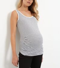 New Look Summer Black & White Maternity Vest Top. Sizes 8 10 12 & 16. BNWT