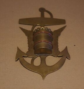 """### """"TRENCH ART"""" WALL MOUNTED SPILL HOLDER - ROYAL NAVY WWII ###"""