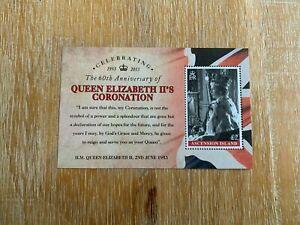 ASCENSION ISLAND 2013 MNH MINISHEET QUEEN ELIZABETH 2 CORONATION ROYALTY