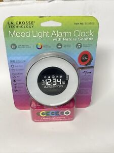 La Crosse Technology C85135 Color Mood Light Alarm Clock + Nature Sounds New