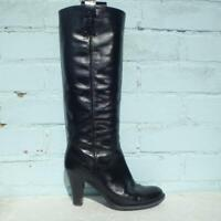 Russell & Bromley Patent Leather Boots UK 5 Eur 38 Womens Pull on Black Boots