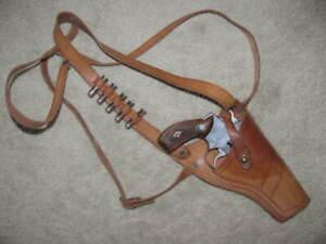 """Vintage Leather Shoulder Holster S&W J Frame 31 32 33 36 37 60 4"""" RH GC 210415"""