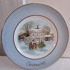 """8 3/4"""" Avon Christmas Plate Carollers In The Snow, 5th Edition, 1977"""
